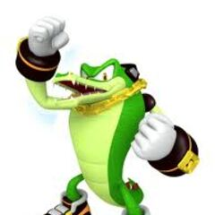 Vector the Crocodile from Sonic Free Riders.