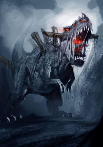 File:Undead Demon Dinosaur by Ricardo Guimaraes-1-.jpg