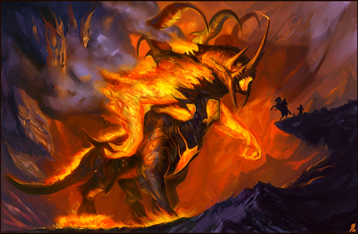 Demon In The Sorcerer S Ring Painting