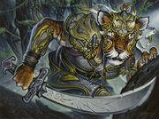 Cat Warrior token