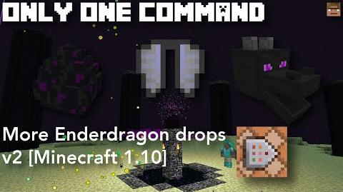 More Enderdragon Drops v2 Only one command Minecraft 1.10 (Server friendly)