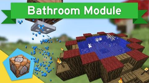 SHOWERS & HOT TUBS in Vanilla Minecraft 1.9 Bathroom Module-0