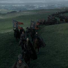 Das Heer der Boltons begibt sich auf dem Weg nach Winterfell.