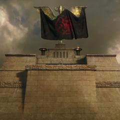 Прапор Таргаріенов над Міеріном.