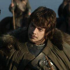 Theon na polu z Robbem.