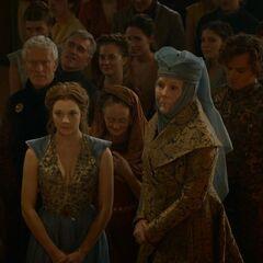 Os principais personagens de Tyrell na 3ª temporada: Margaery, Loras e sua avó Olenna