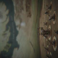 Die Darstellung von Vaes Dothrak in der Titelsequenz mit Westeros im fernen Hintergrund