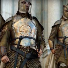 Armadura da Guarda Real após o rei <a href=