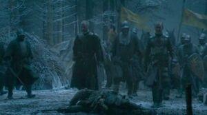410 Stannis Baratheon und Davos Seewert jenseits der Mauer