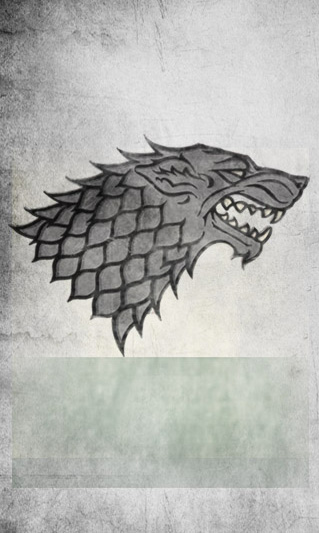 The Banner Of House Stark Of Winterfell, The Rulers Of The North.