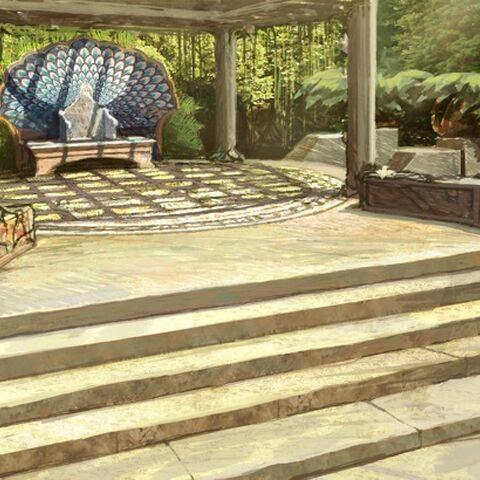 Teil der Gartenanlage in Xaros Anwesen