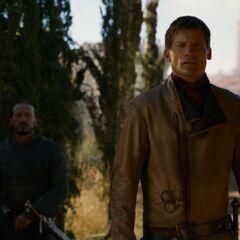 Jaime Lennister und Bronn auf dem Königsweg vor Königsmund.