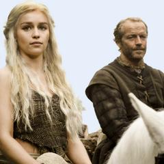 Daenerys und Jorah Mormont beim Reiten.