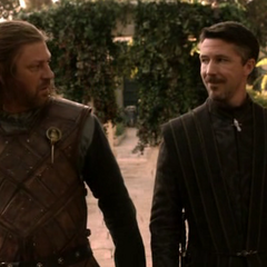 Baelish advises Eddard on politics in King's Landing in