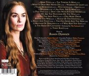 Game of Thrones Staffel 2 Soundtrack CD back