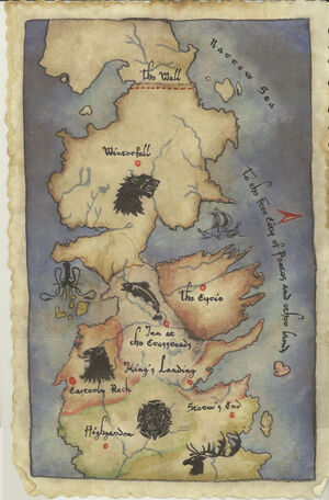HBO Map of Westeros