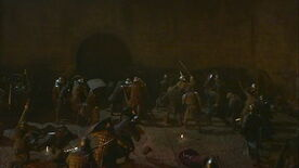 Soldiers at the mud gate