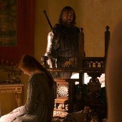 Sansa i Shae złapane przez Sandorowi.