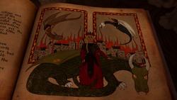 HL5 Two Betrayers and Rhaenyra manuscript art