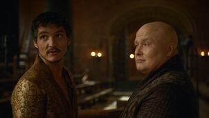 Oberyn and Varys throne room