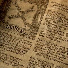 Casa Umber, primeira página visível, ampliado.