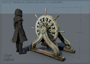 Dany's Ships Wheel V1 Weathered Concept Art