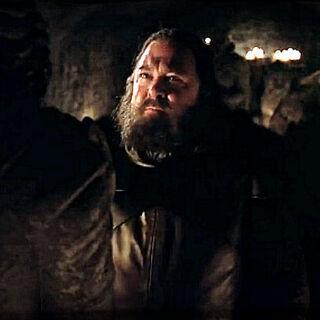 Król Robert odwiedza grób Lyanny.