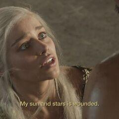 Daenerys i ranny khal.