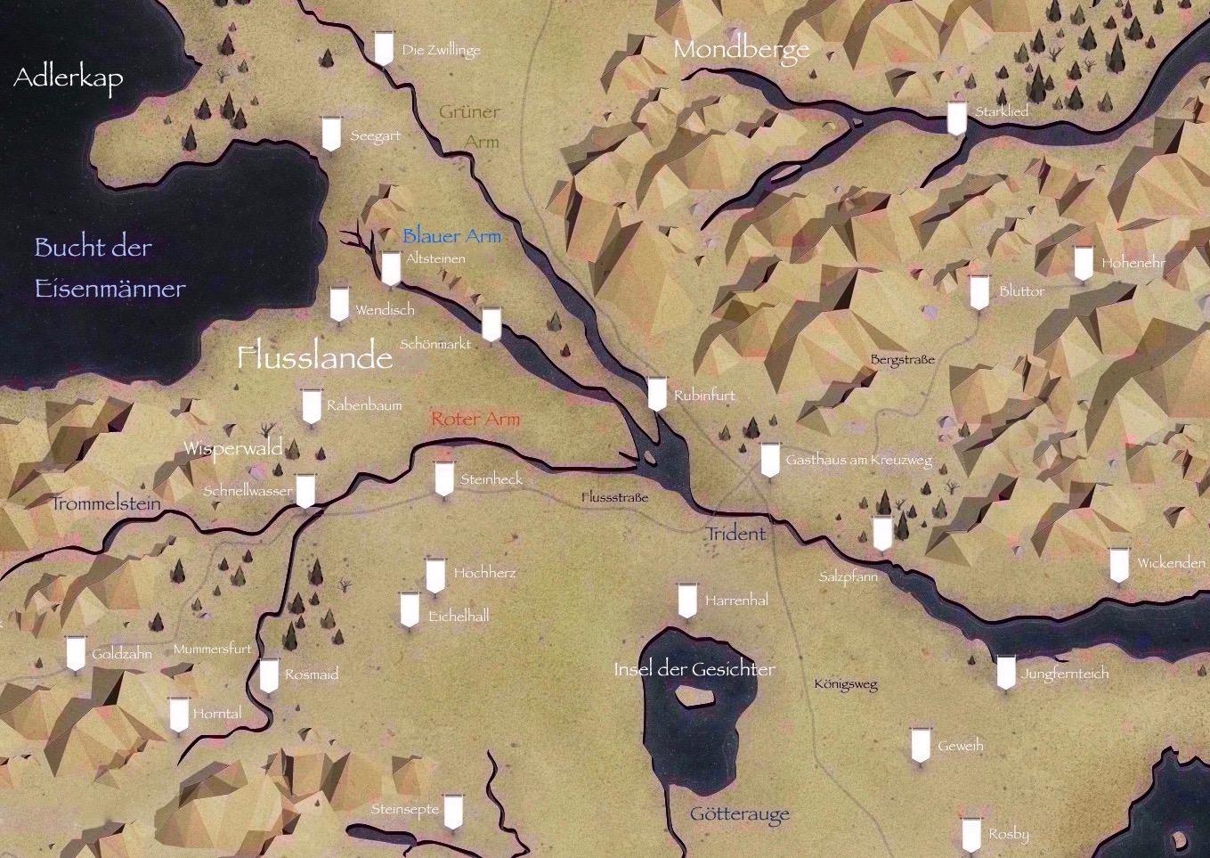 Got Karte Norden.Flusslande Game Of Thrones Wiki Fandom Powered By Wikia