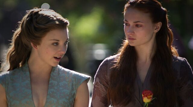 File:Sansa Margaery Bear and Maiden Fair.jpg
