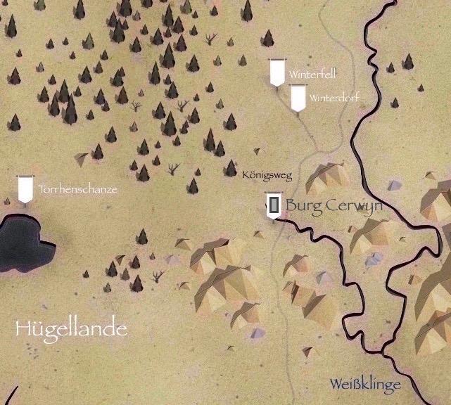 Got Karte Norden.Burg Cerwyn Game Of Thrones Wiki Fandom Powered By Wikia