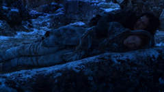 Jon lies with Ygritte 2x6