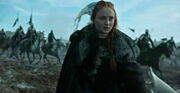 Sansa arrives at battle
