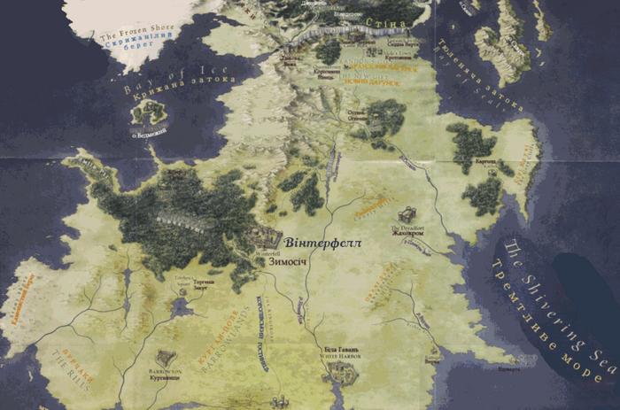 Північ Карта 02 Вінтерфелл