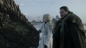 Checking on dragons Jon and Dany
