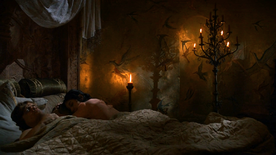 Tyrion and Shae in bed