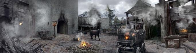 Burnt Winterfell by Kim Pope