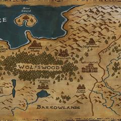 Karte aus dem Videospiel