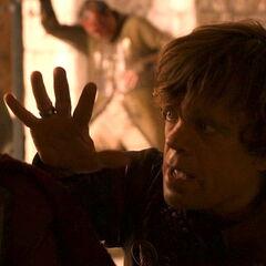 Tyrion policzkuje Joffrey.
