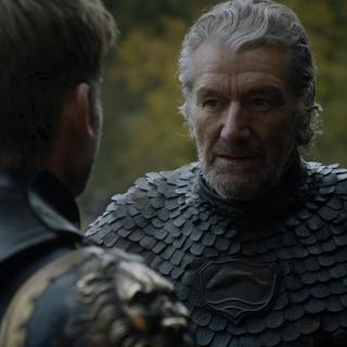 Brynden confrontando Jaime Lannister.