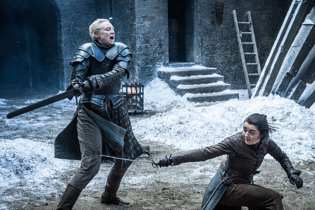 File:Arya and Brienne Spar.jpg