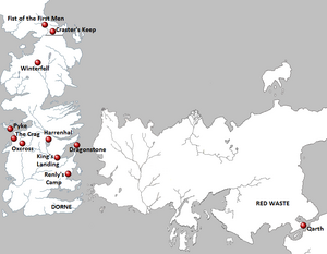 Season 2 Locations map