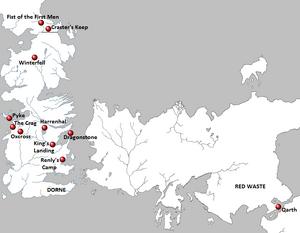 Season 2 Locations map
