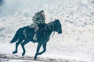 Джон Сноу на лошади 7x06