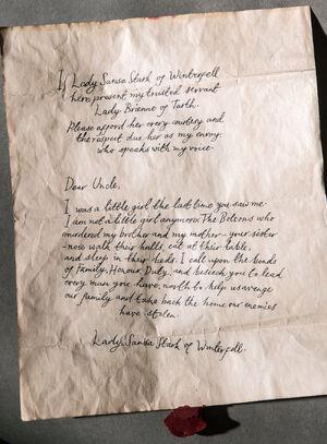 608 Sansa Brief Schwarzfisch