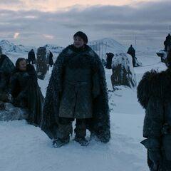 Sam, Edd, Grenn e Jon no <a href=