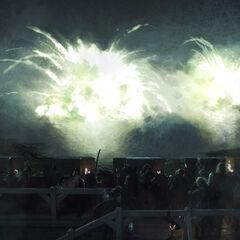 Seefeuerexplosion in der Schwarzwasserbucht