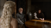 Barristan at a council meeting