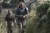 Maisie-Williams-as-Arya-Stark-Rory-McCann-as-Sandor-The-Hound-Clegane photo-Helen-Sloan HBO-