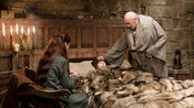 Catelyn, Bran Stark and Maester Luwin 1x02